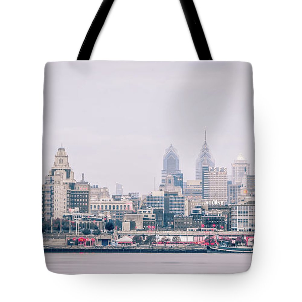 View Tote Bag featuring the photograph Early Morning Sunrise Over Philadelphia Pennsylvania by Alex Grichenko