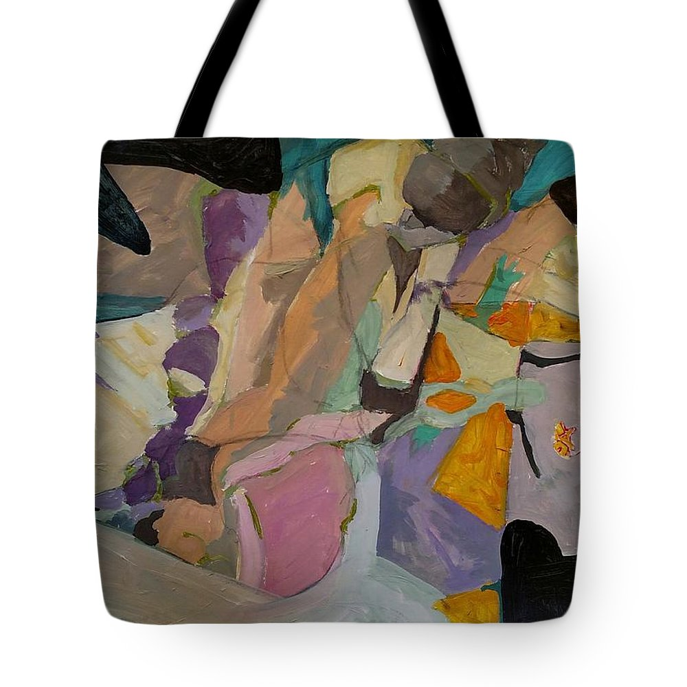 Tote Bag featuring the painting Easter Egg Hunt by Susan Price