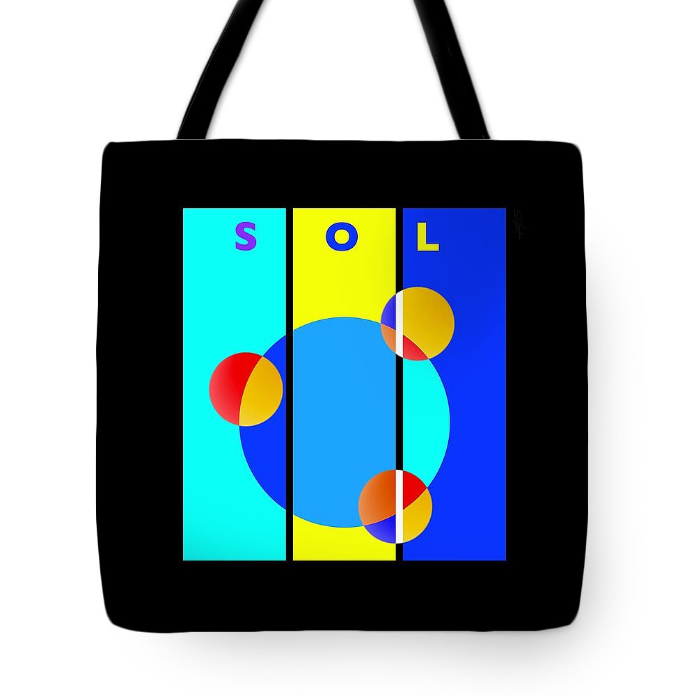 Primary Colors Tote Bag featuring the painting Eclipse by Charles Stuart