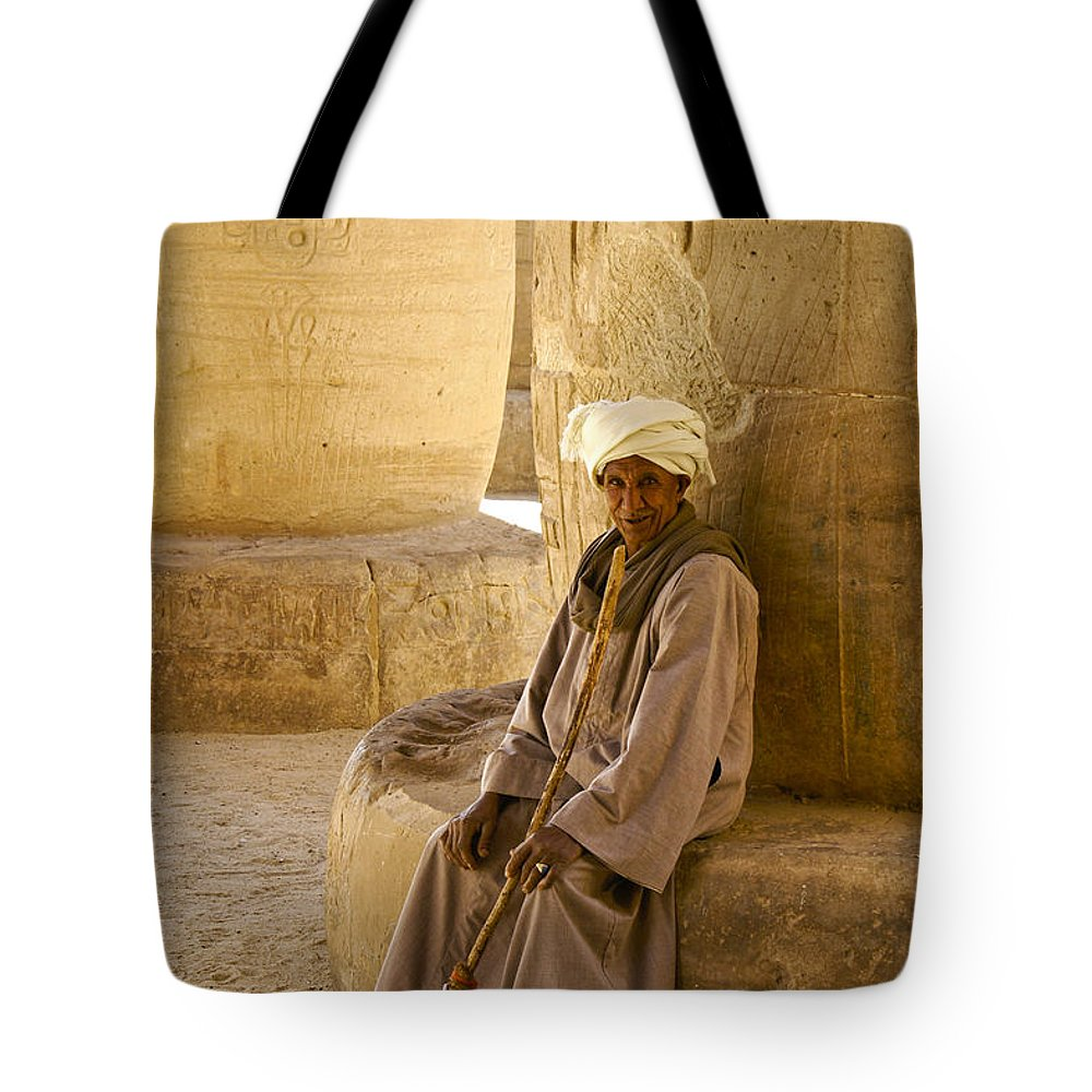 Egypt Tote Bag featuring the photograph Egyptian Caretaker by Michele Burgess