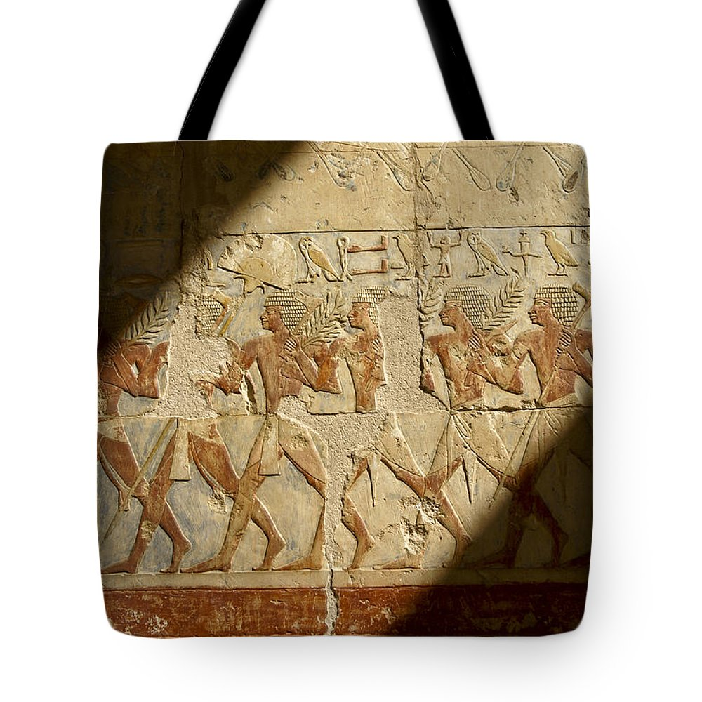 Egypt Tote Bag featuring the photograph Egyptian Relief by Michele Burgess