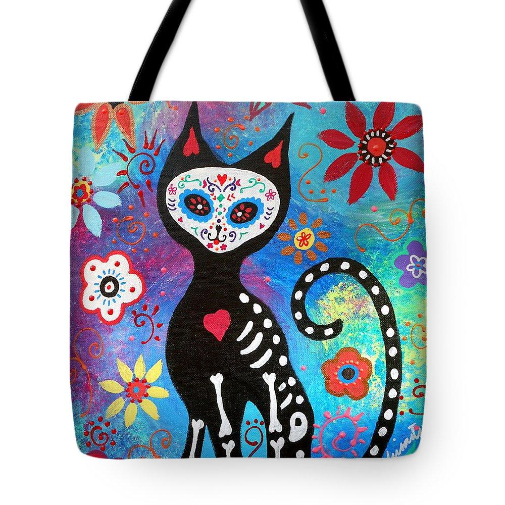 El Gato Tote Bag featuring the painting El Gato by Pristine Cartera Turkus