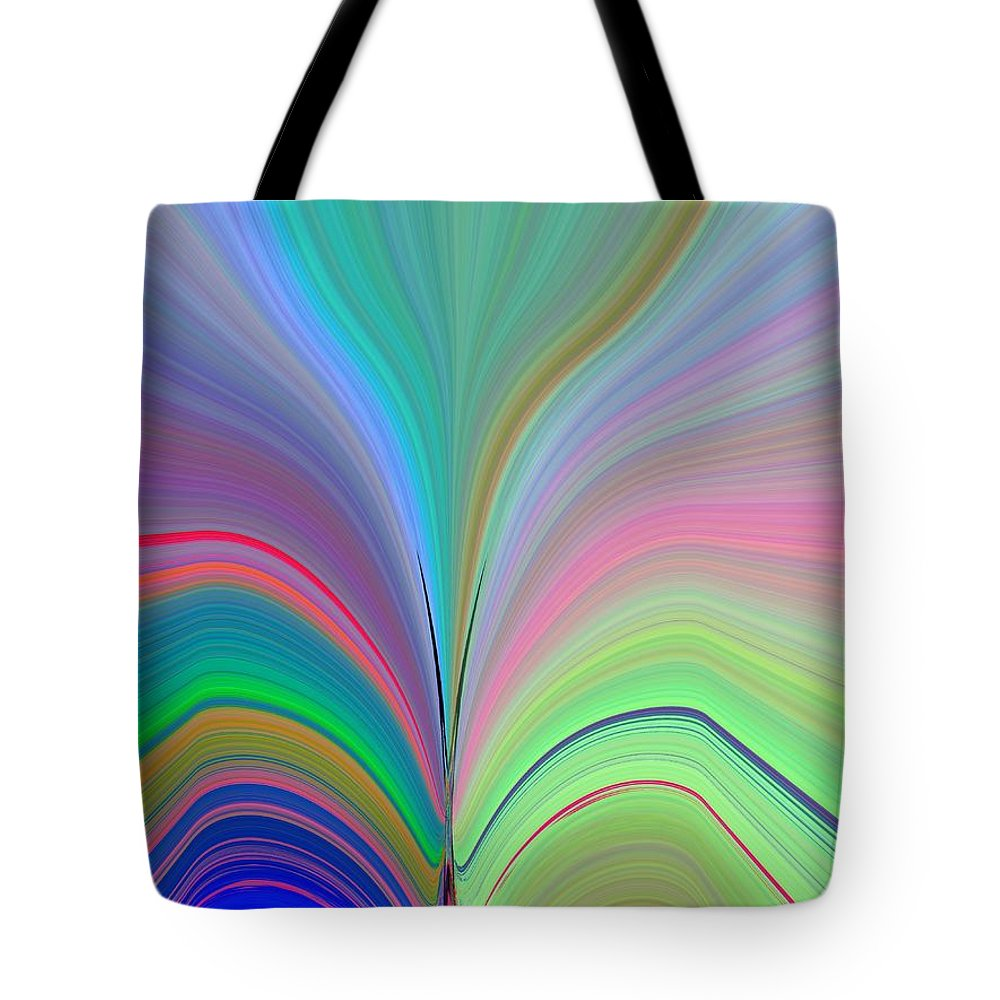 Flower Tote Bag featuring the digital art Elation by Tim Allen