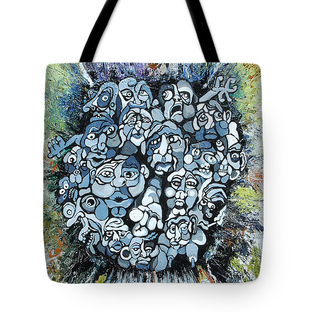 Surreal Tote Bag featuring the painting Elevator by Julie Fischer