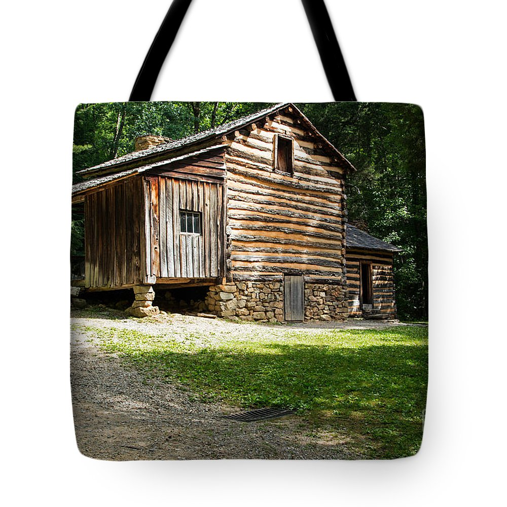 Cades Cove Tote Bag featuring the photograph Elijah Oliver Place by Fred Stearns