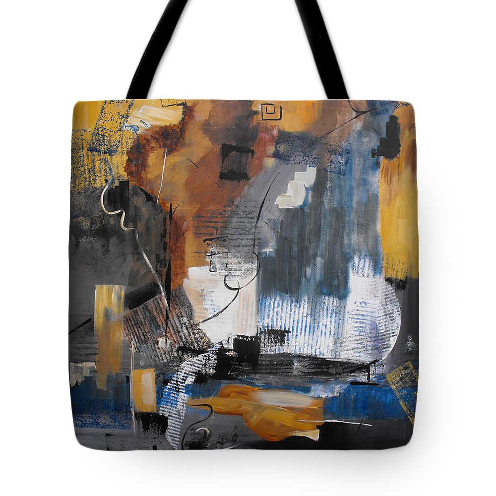 Abstract Tote Bag featuring the painting Energy by Ruth Palmer