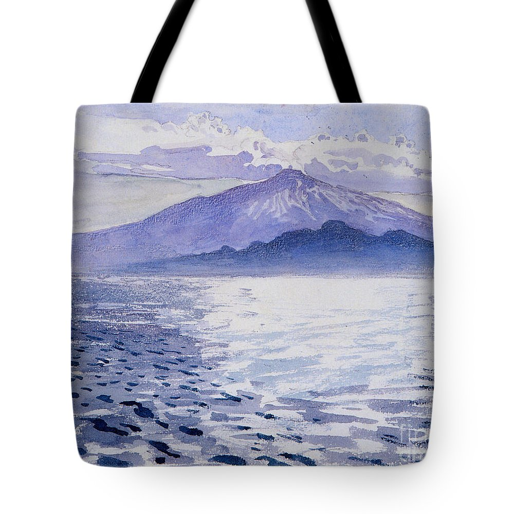 Akseli Gallen-kallela Tote Bag featuring the painting Etna by Celestial Images