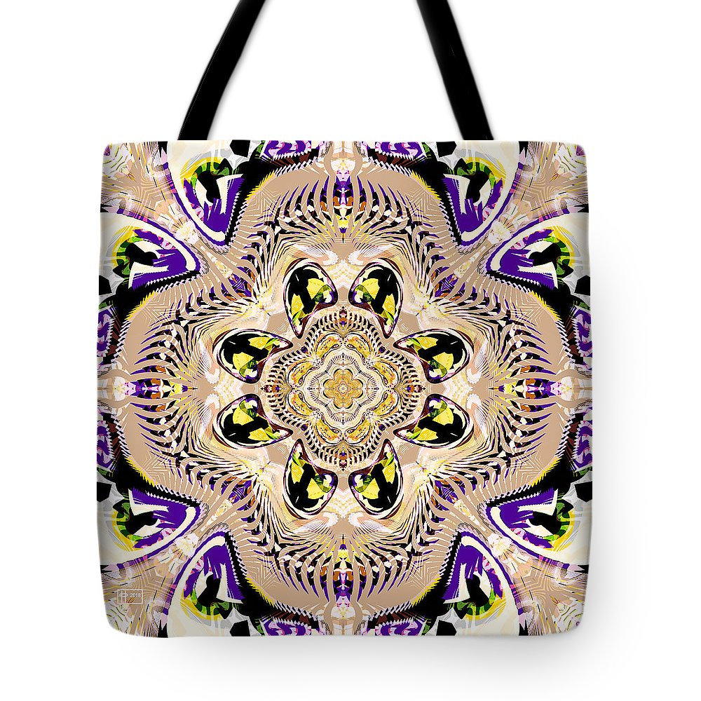 Abstract Digital Fractal Tote Bag featuring the digital art Eye-candy by Jim Pavelle