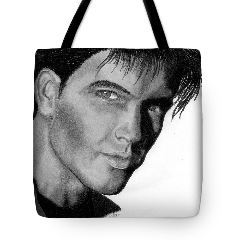 Male Tote Bag featuring the drawing Eyes by Kristen Wesch