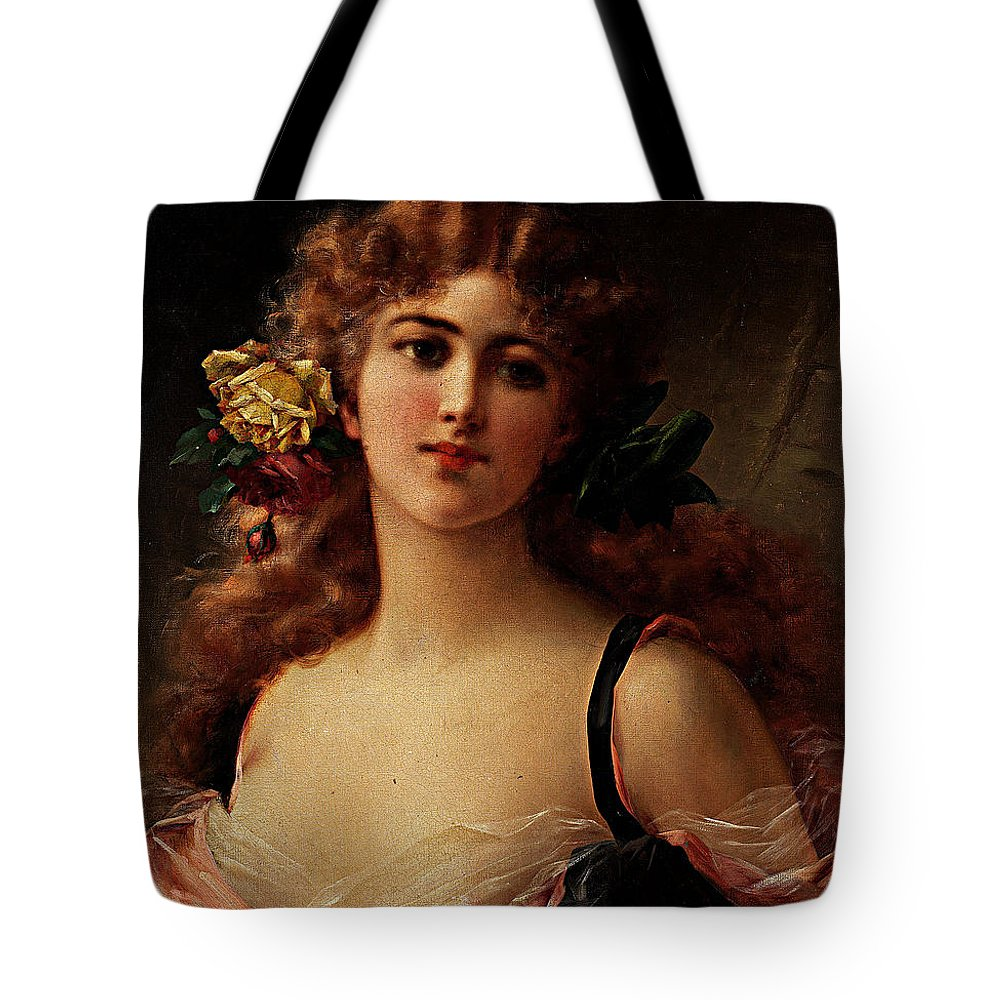 Emile Vernon Tote Bag featuring the painting Fair As The Morning by Emile Vernon