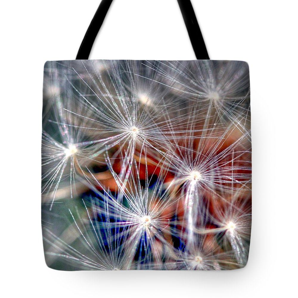 Dandelion Tote Bag featuring the photograph Faith by Mitch Cat