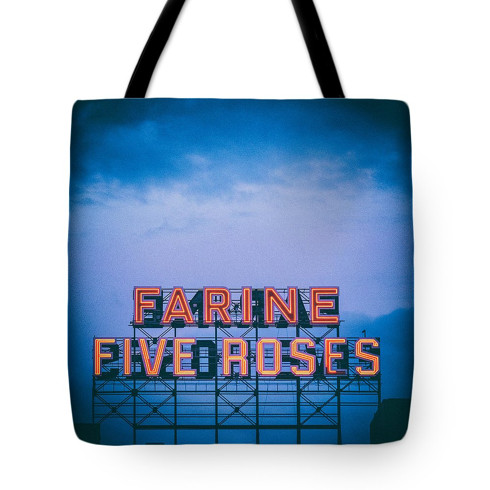 Montreal Tote Bag featuring the photograph Farine Five Roses by Tanya Harrison