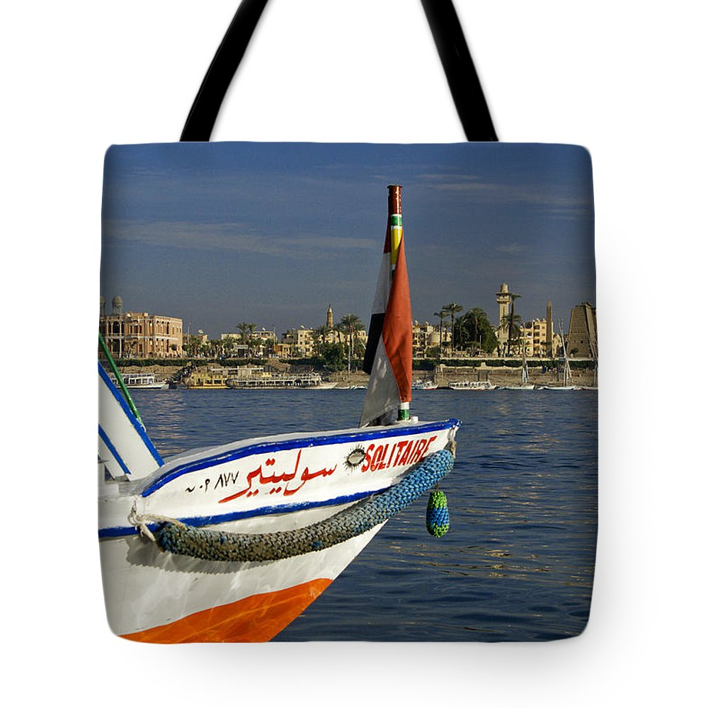 Egypt Tote Bag featuring the photograph Felucca On The Nile by Michele Burgess