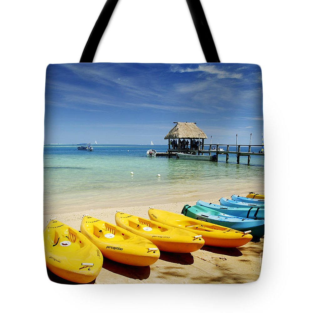 Afternoon Tote Bag featuring the photograph Fiji, Malolo Island by Himani - Printscapes