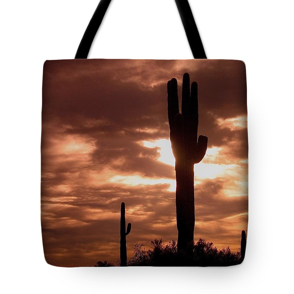 Film Homage Orson Welles Saguaro Cacti The Other Side Of The Wind Carefree Arizona 2004 Tote Bag featuring the photograph Film Homage Orson Welles Saguaro Cacti The Other Side Of The Wind Carefree Arizona 2004 by David Lee Guss