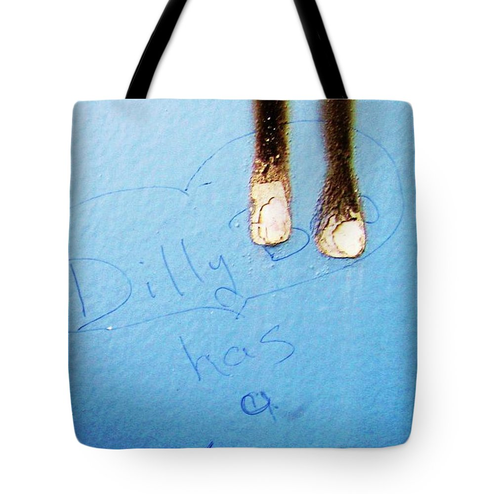 Photograph Fine Ass Blue Tote Bag featuring the photograph Fine Ass by Seon-Jeong Kim
