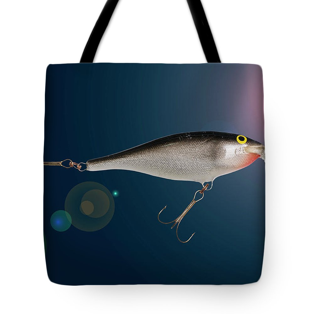 Fishing Tote Bag featuring the photograph Fishing Lure by Donald Erickson