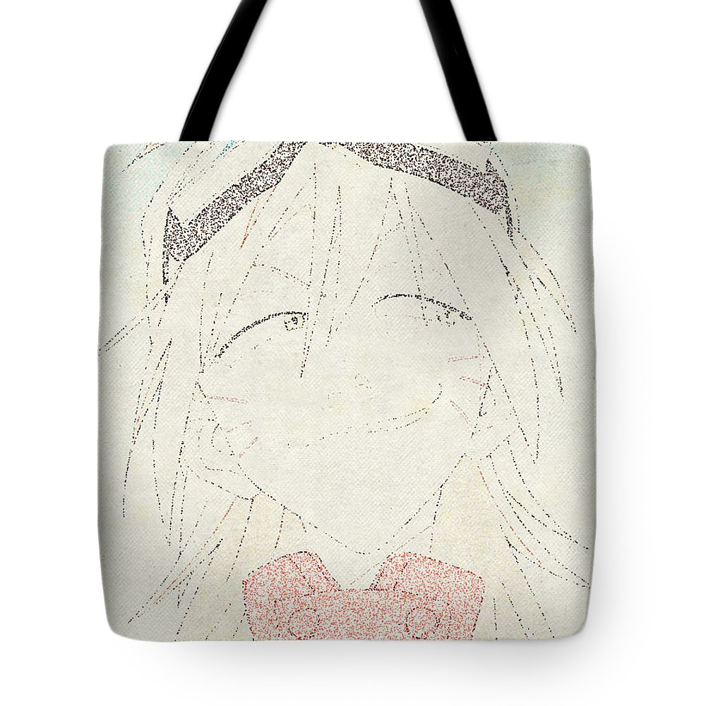 Flcl Tote Bag featuring the digital art Flcl by Lora Battle
