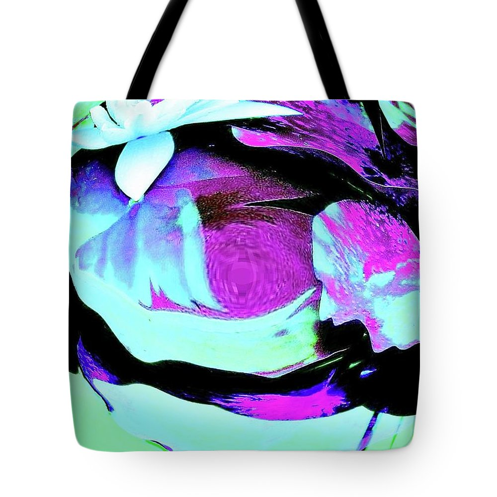 Flowers Tote Bag featuring the photograph Floral Abstract #5 by Slawek Aniol