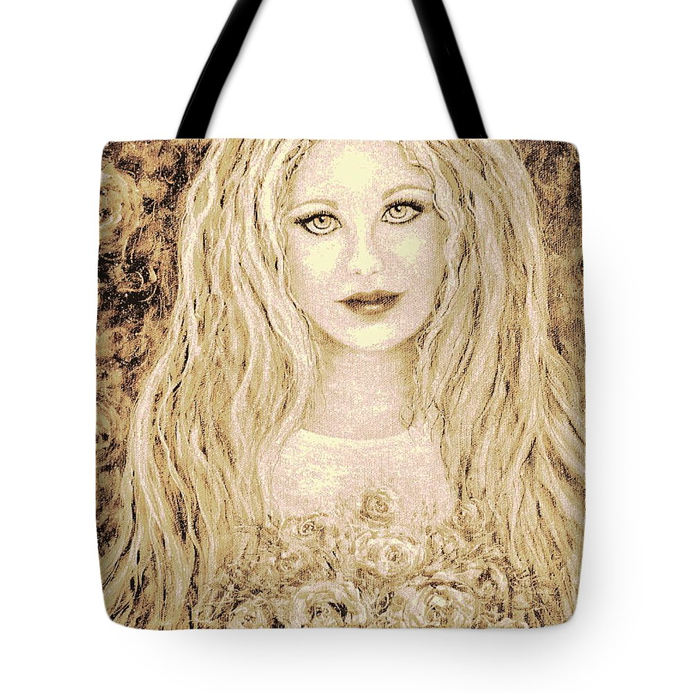 Portrait Tote Bag featuring the painting Flowers For You by Natalie Holland