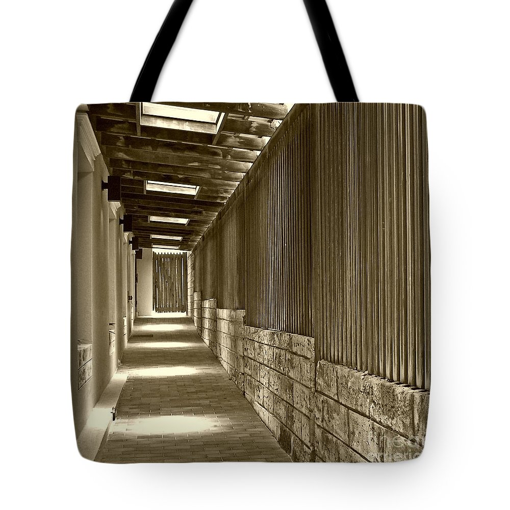 Door Tote Bag featuring the photograph Follow Me by Debbi Granruth