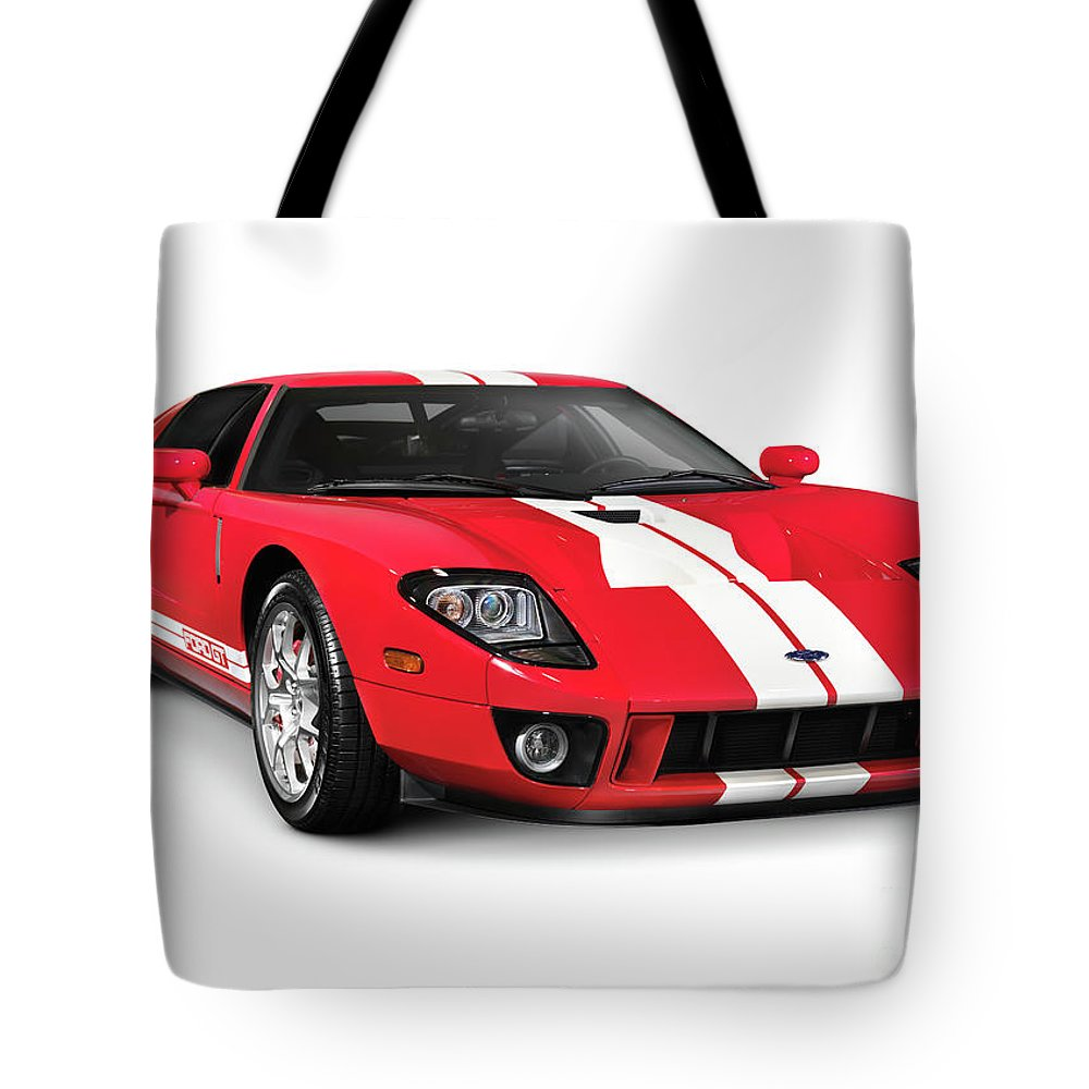 Supercar Tote Bag featuring the photograph Ford Gt Supercar by Oleksiy Maksymenko