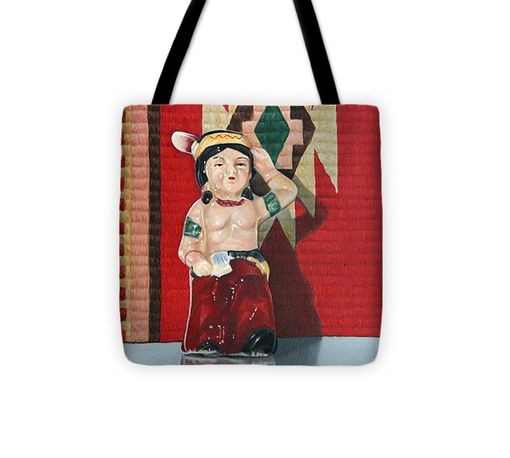 American Indian Tote Bag featuring the painting Forever Brave by K Henderson