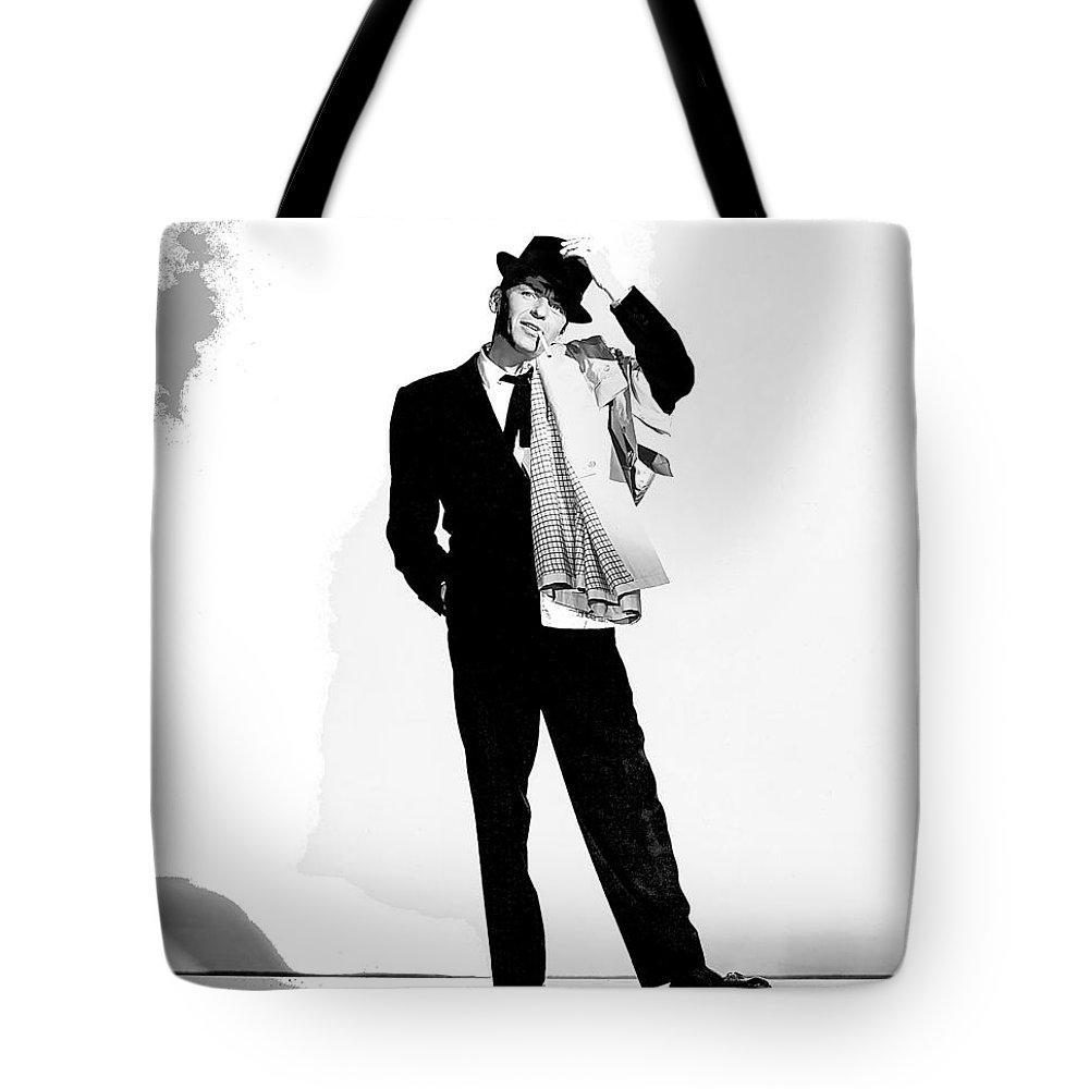 Frank Sinatra Pal Joey Set 1 1957-2015 Tote Bag featuring the photograph Frank Sinatra Pal Joey Set 1 1957-2015 by David Lee Guss