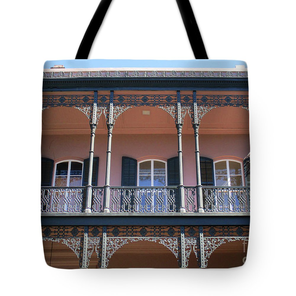 Garden District Tote Bag featuring the photograph French Quarter 47 by Randall Weidner