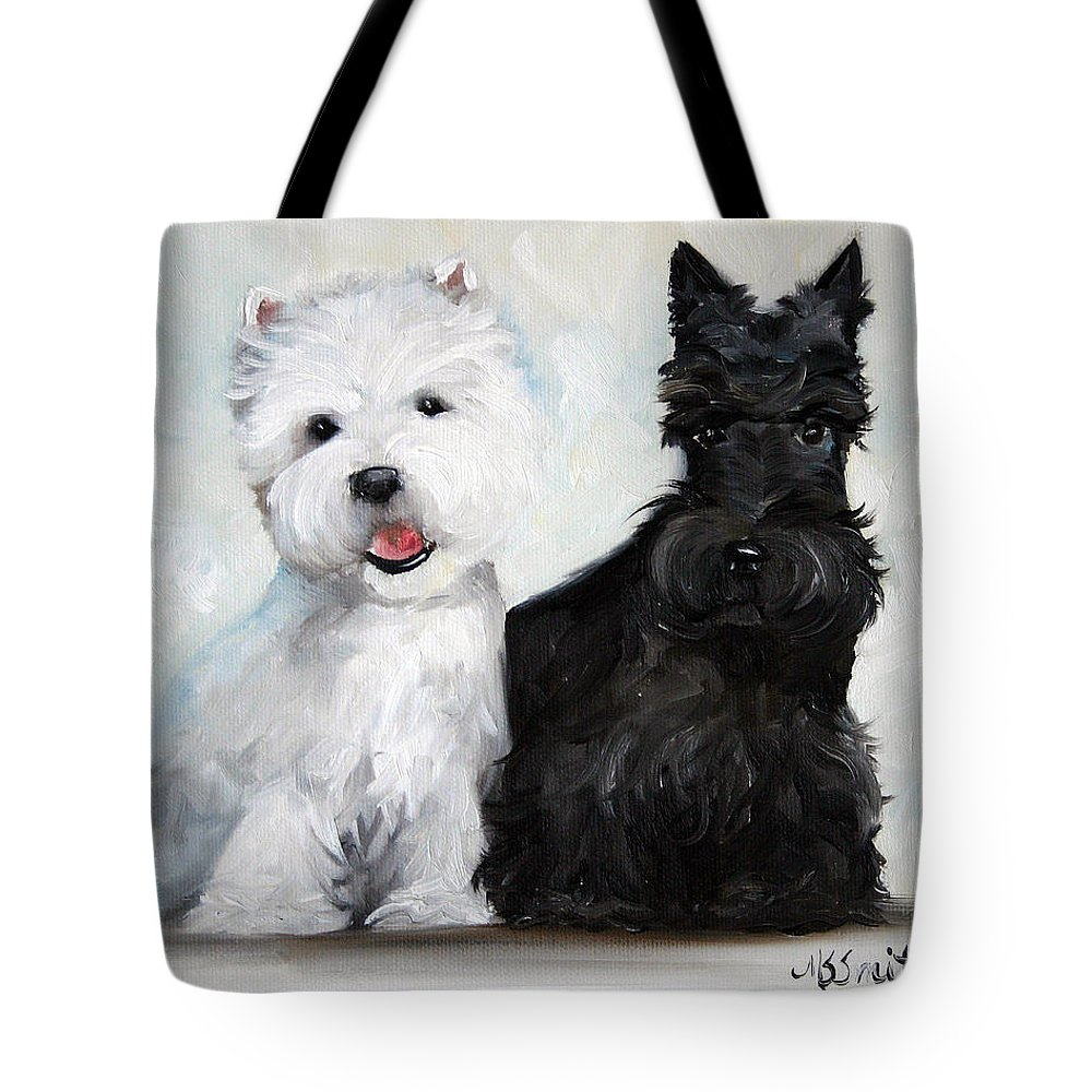 Art Tote Bag featuring the painting Friends by Mary Sparrow