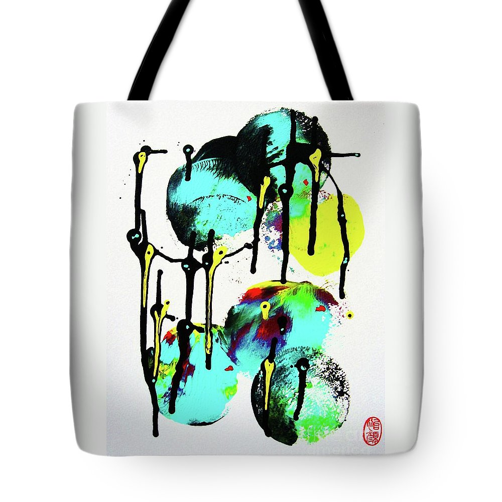 Abstraction Tote Bag featuring the painting Fugu Ni by Roberto Prusso