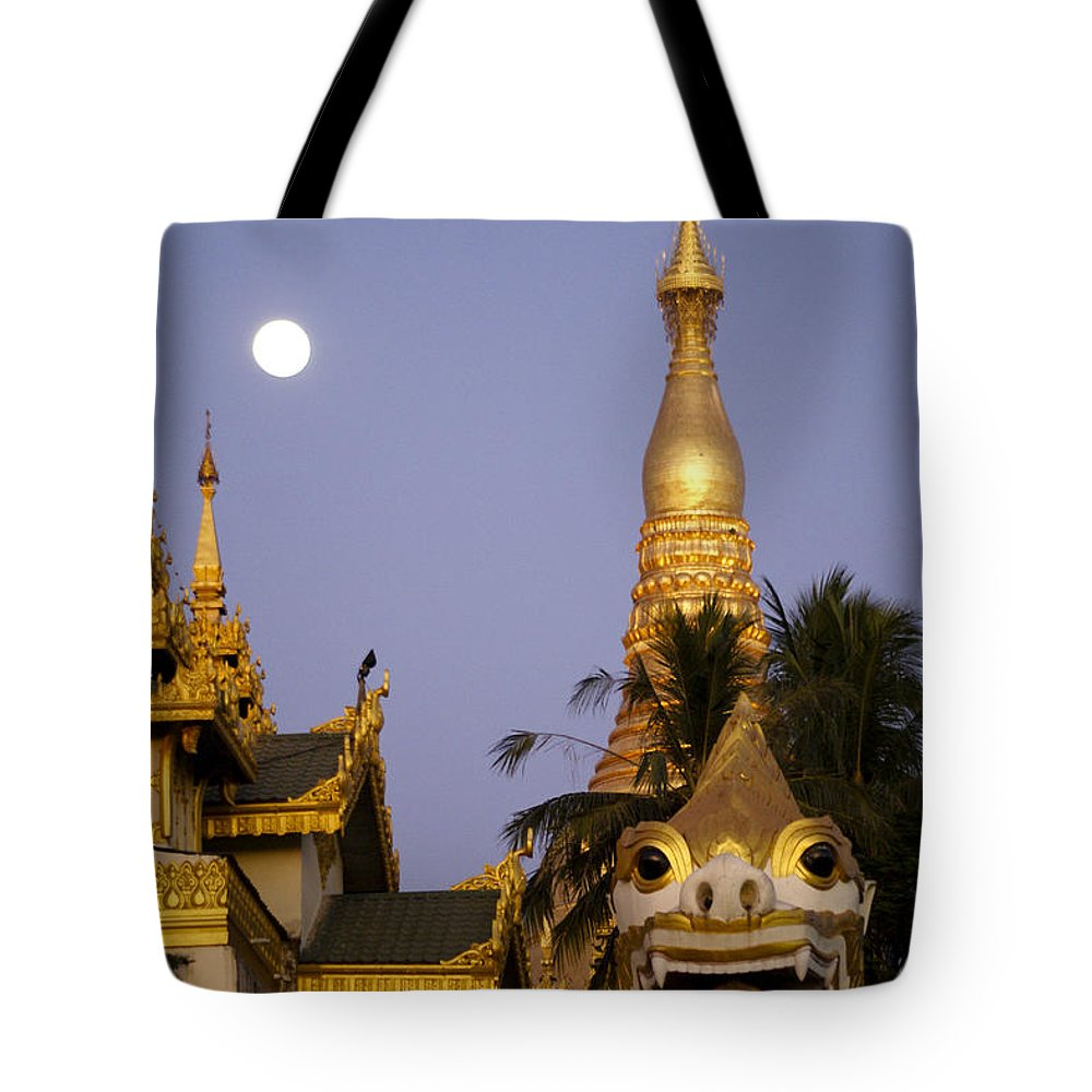 Burma Tote Bag featuring the photograph Full Moon In Burma by Michele Burgess