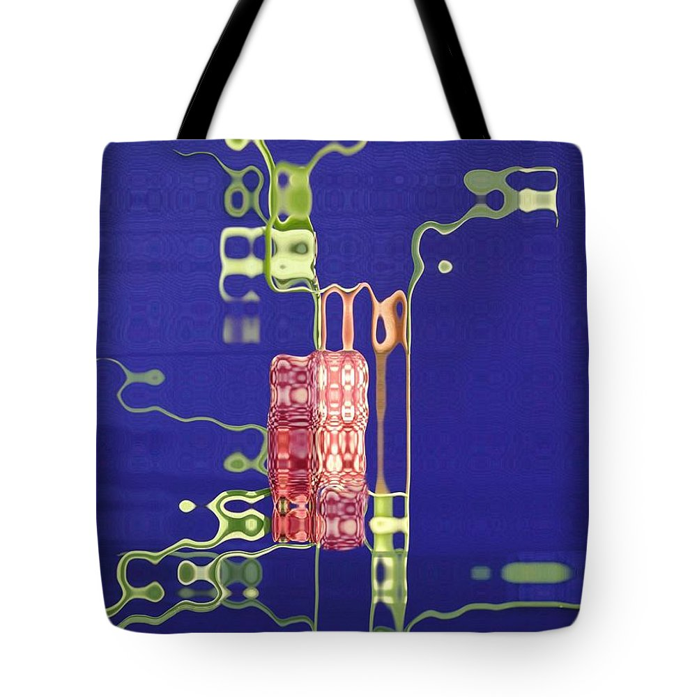 Blue Tote Bag featuring the photograph Future Flower 1 by Tom Reynen