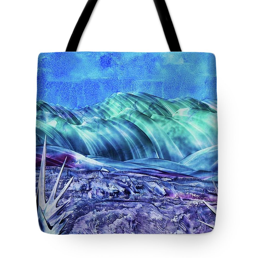 Encaustic Tote Bag featuring the painting Gallup by Melinda Etzold