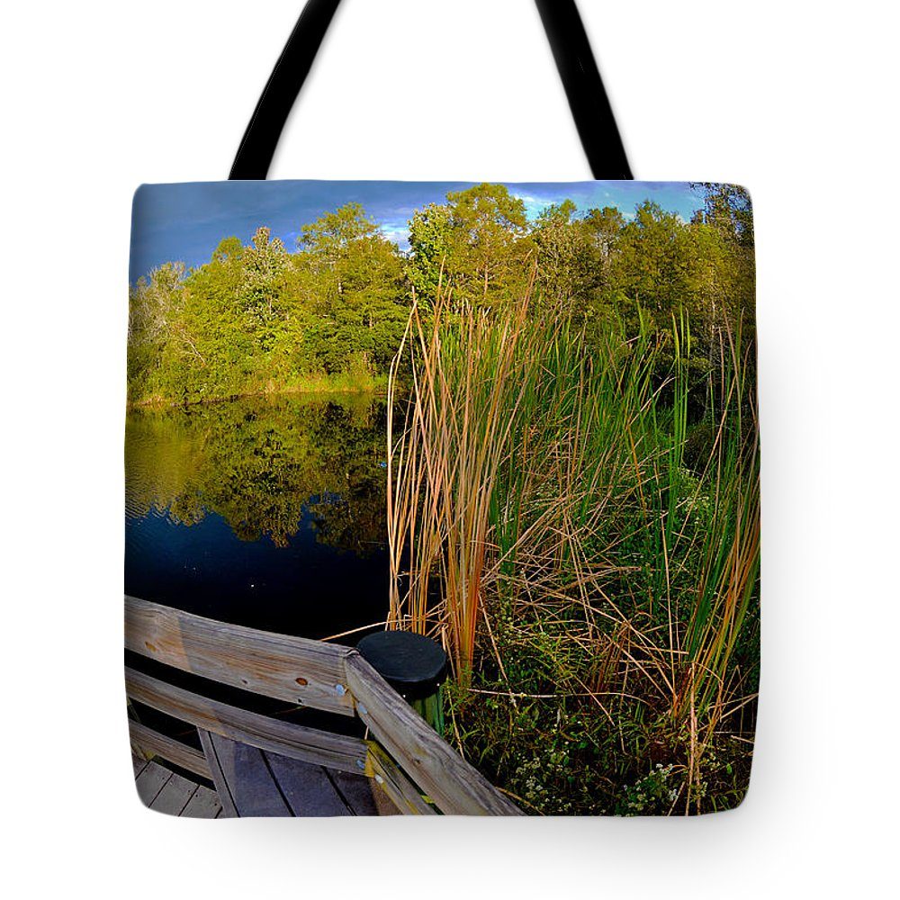 Gator Lake Tote Bag featuring the photograph Gator Lake by Jeffrey Hamilton
