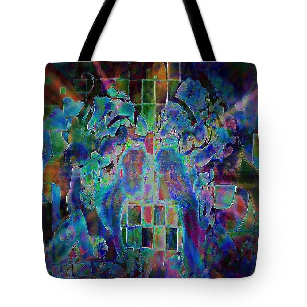 Gemini Tote Bag featuring the digital art Gemini by Wbk