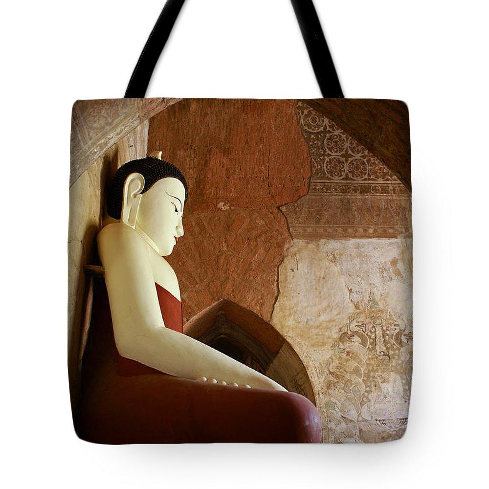 Buddha Tote Bag featuring the photograph Geometric Buddha by Michele Burgess