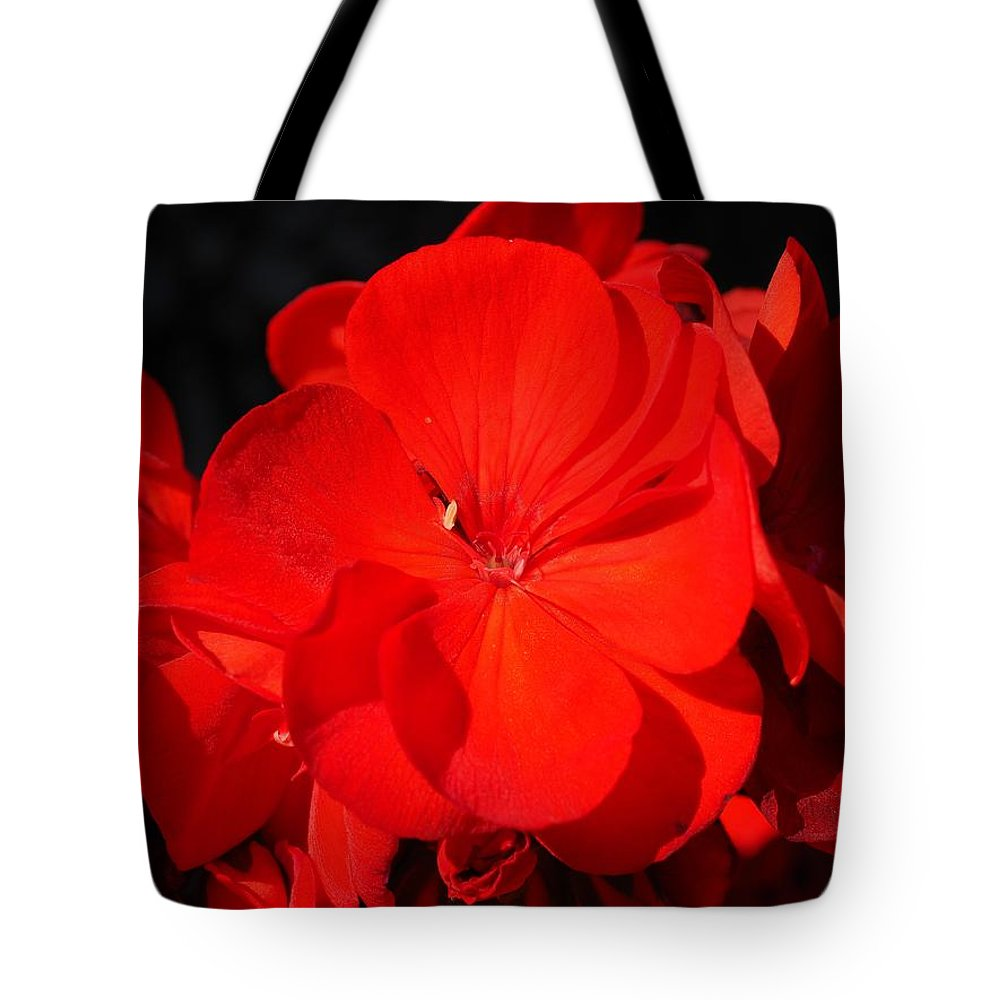 Flower Tote Bag featuring the photograph Geranium by FL collection
