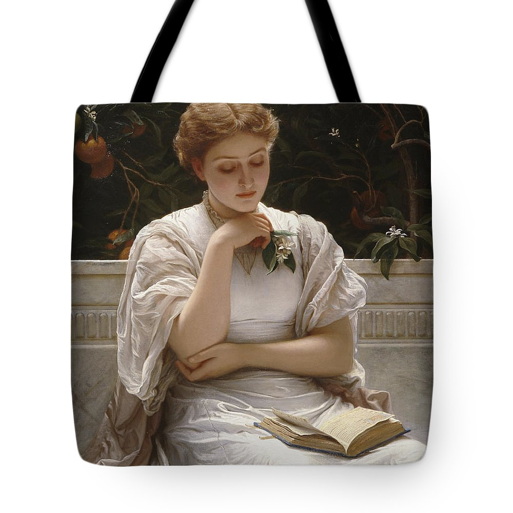 Woman Reading Paintings Tote Bags