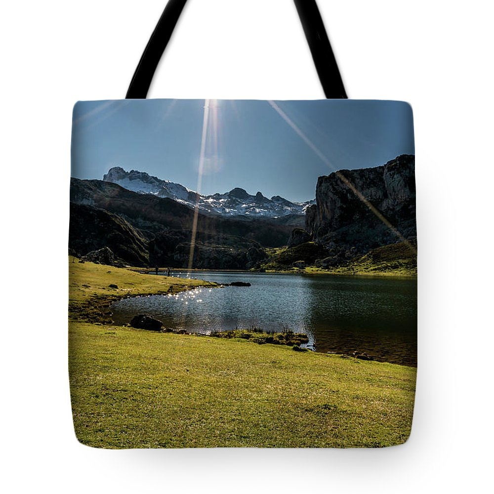 Spain Tote Bag featuring the photograph Glacier Formed by Ric Schafer