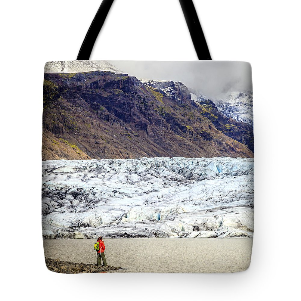 Europe Tote Bag featuring the photograph Glacier Lagoon by Alexey Stiop