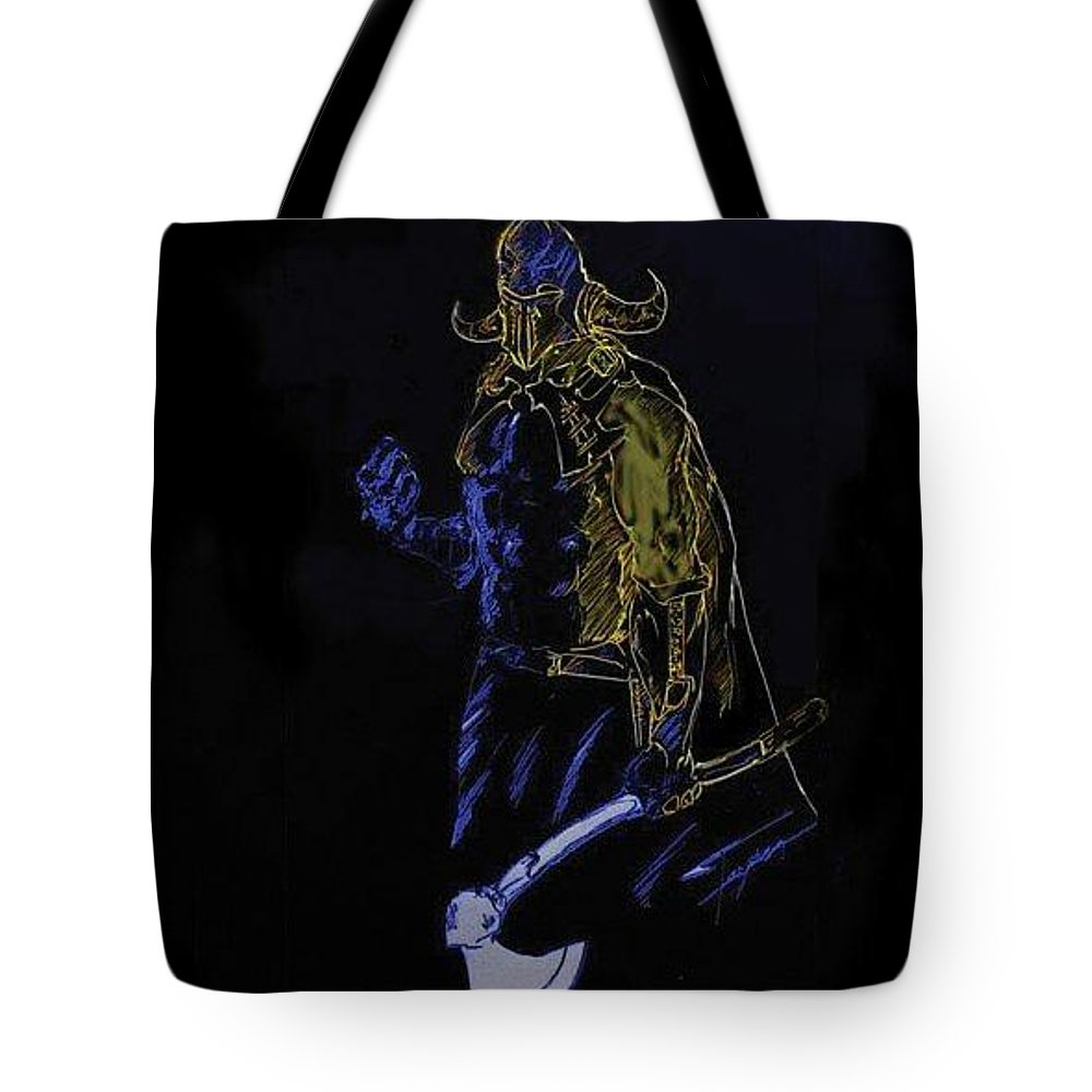 Fantasy Art Tote Bag featuring the digital art Gladiator by Taylan Fidan