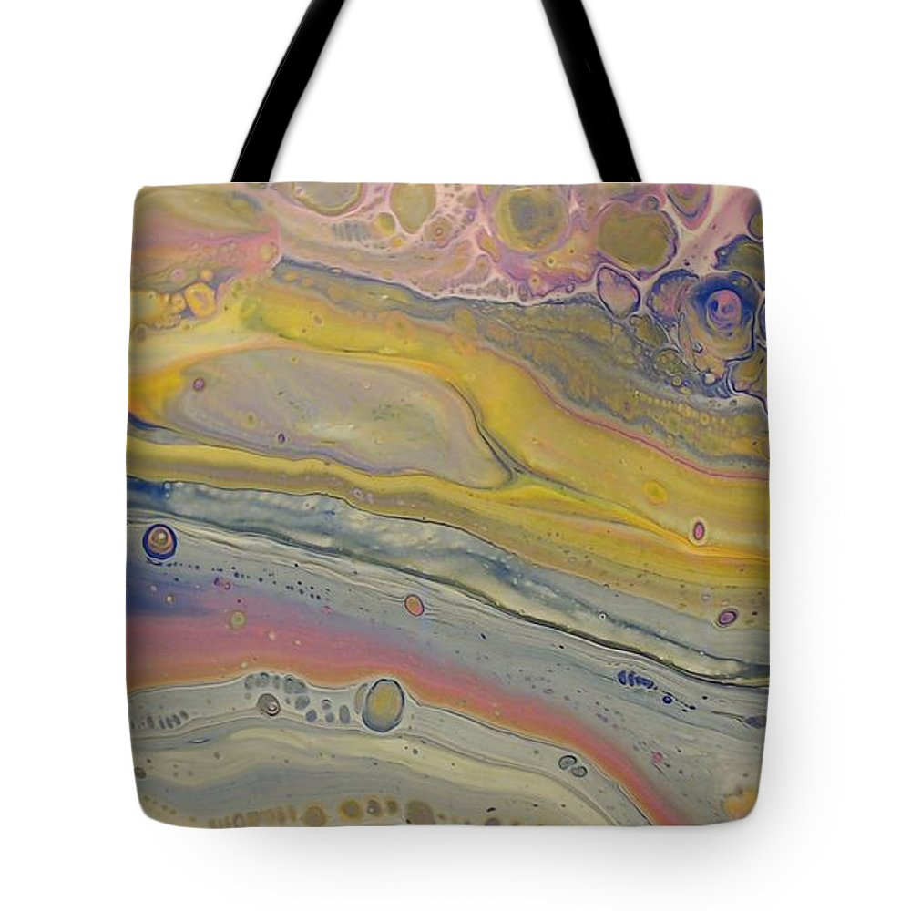 Abstract Tote Bag featuring the painting Glide Across The Galaxy by C Maria Wall