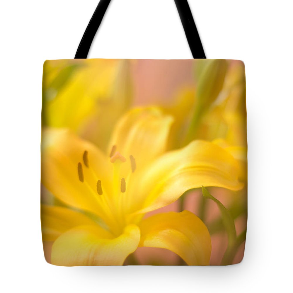Floral Tote Bag featuring the photograph Glorious Lilies by Ramil Redondo