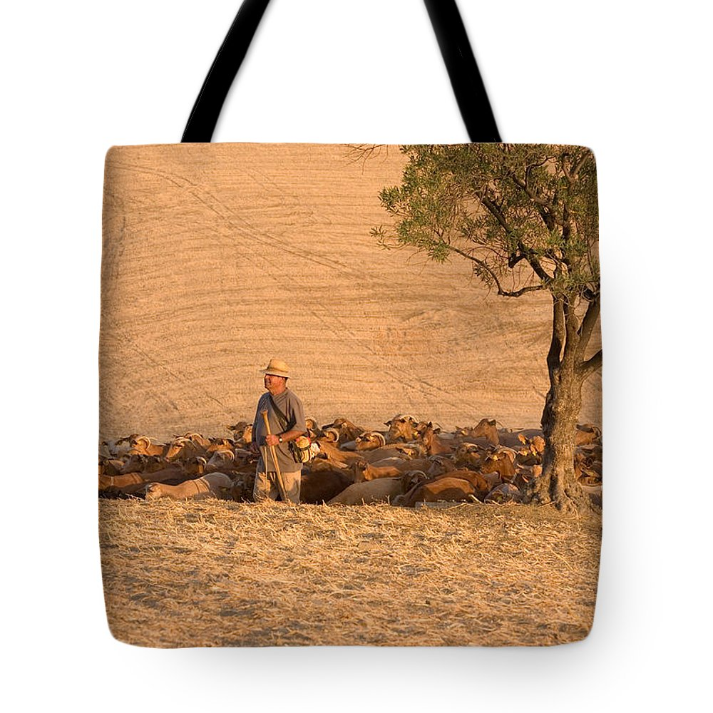 Goat Tote Bag featuring the photograph Goatherd by Mal Bray