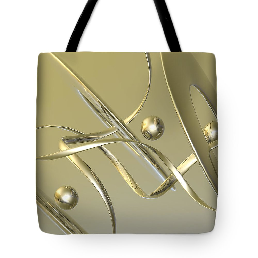 Scott Piers Tote Bag featuring the painting Gold by Scott Piers
