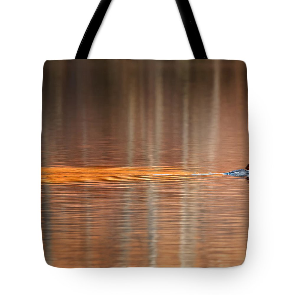 Reflection Tote Bag featuring the photograph Golden Trail 2015 by Bill Wakeley