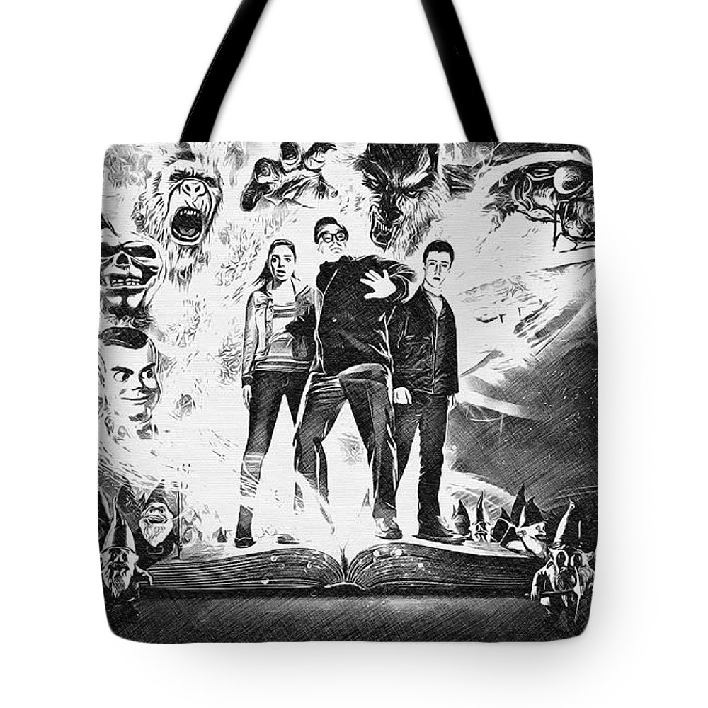 Goosebumps Tote Bag featuring the digital art Goosebumps by Lora Battle