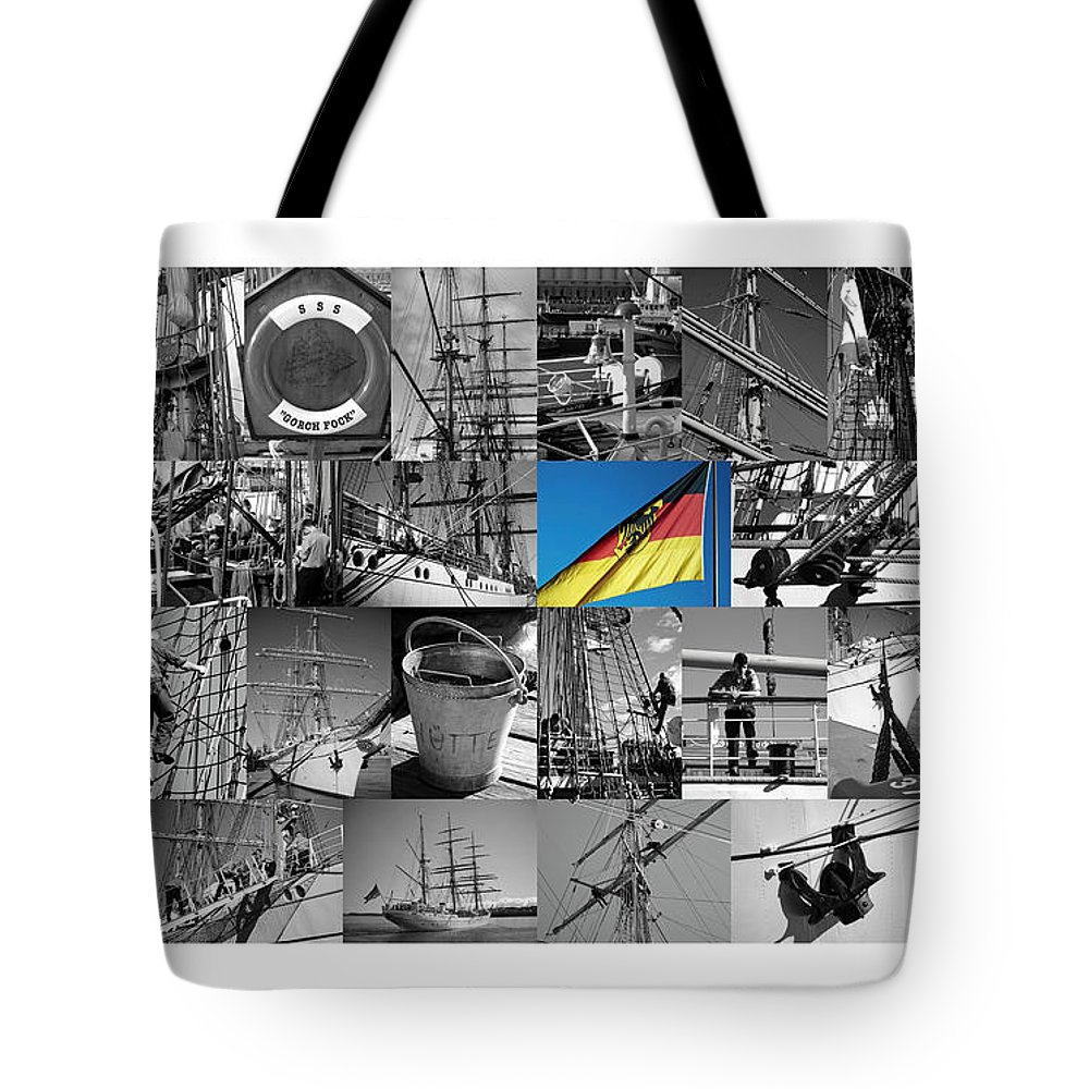 Gorch Fock Tote Bag featuring the photograph Gorch Fock 1958 by Juergen Weiss