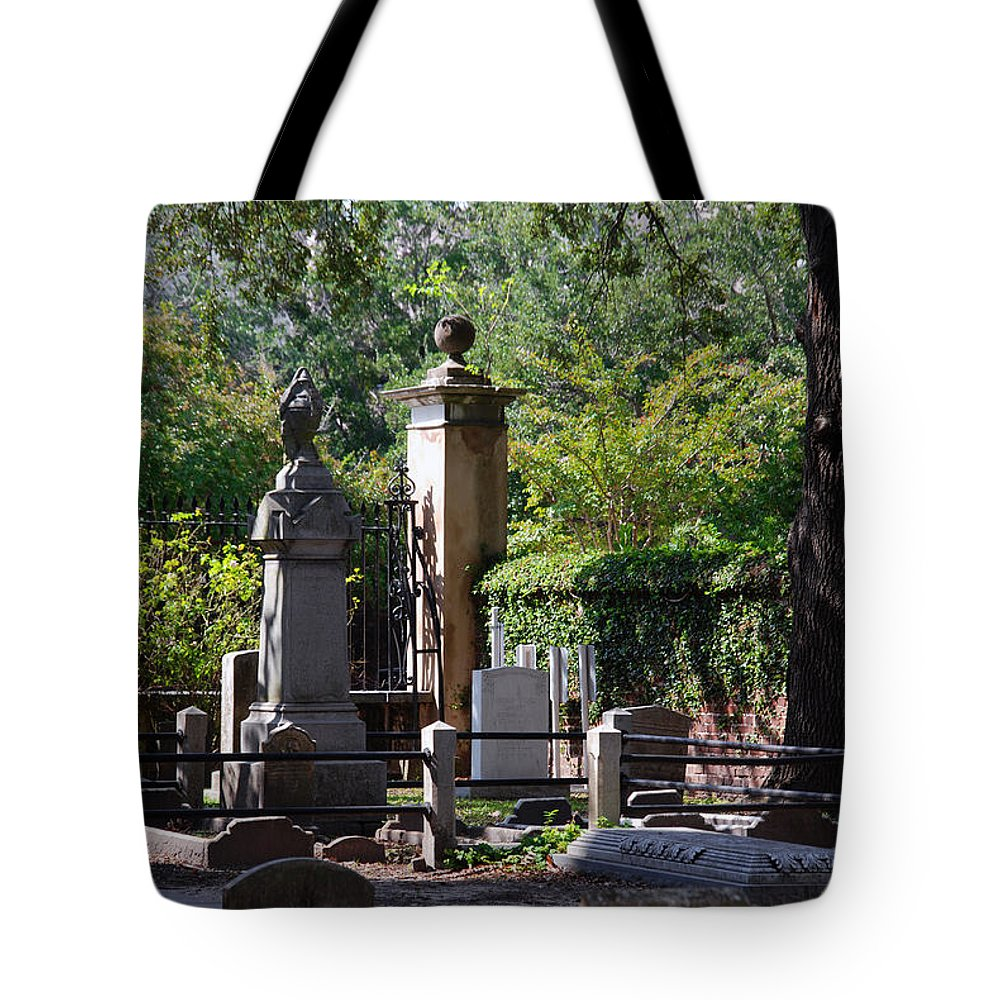 Photography Tote Bag featuring the photograph Graveyard In Charleston by Susanne Van Hulst